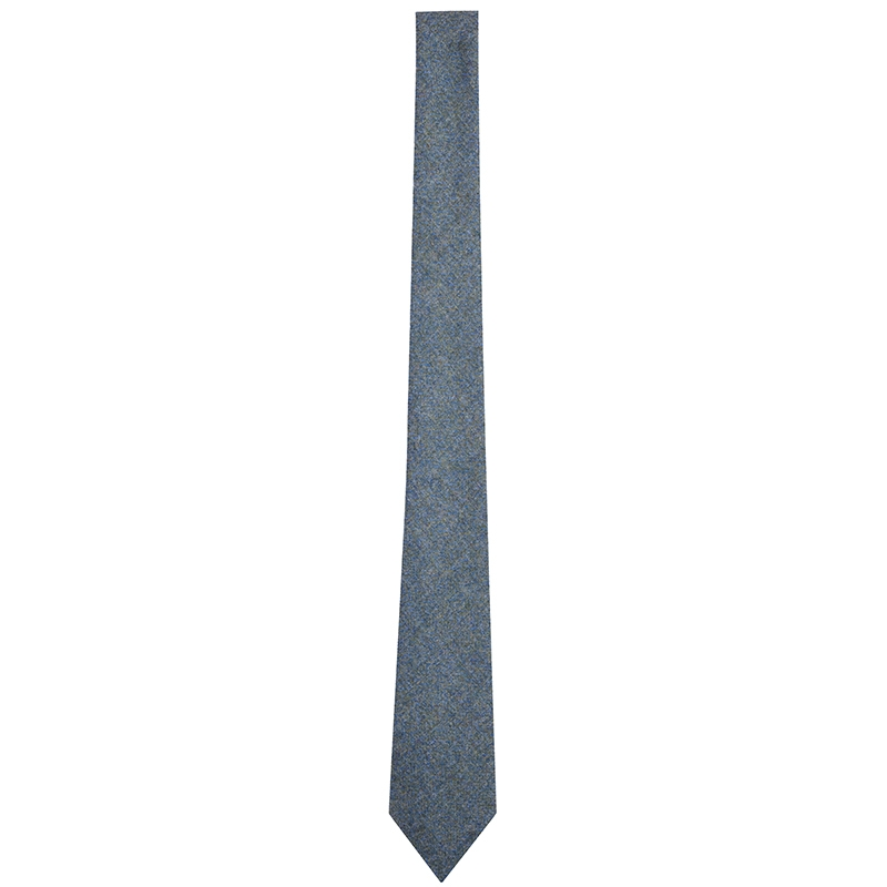Wool Tartan Tie in Cheviot Sea Green (CHE038)