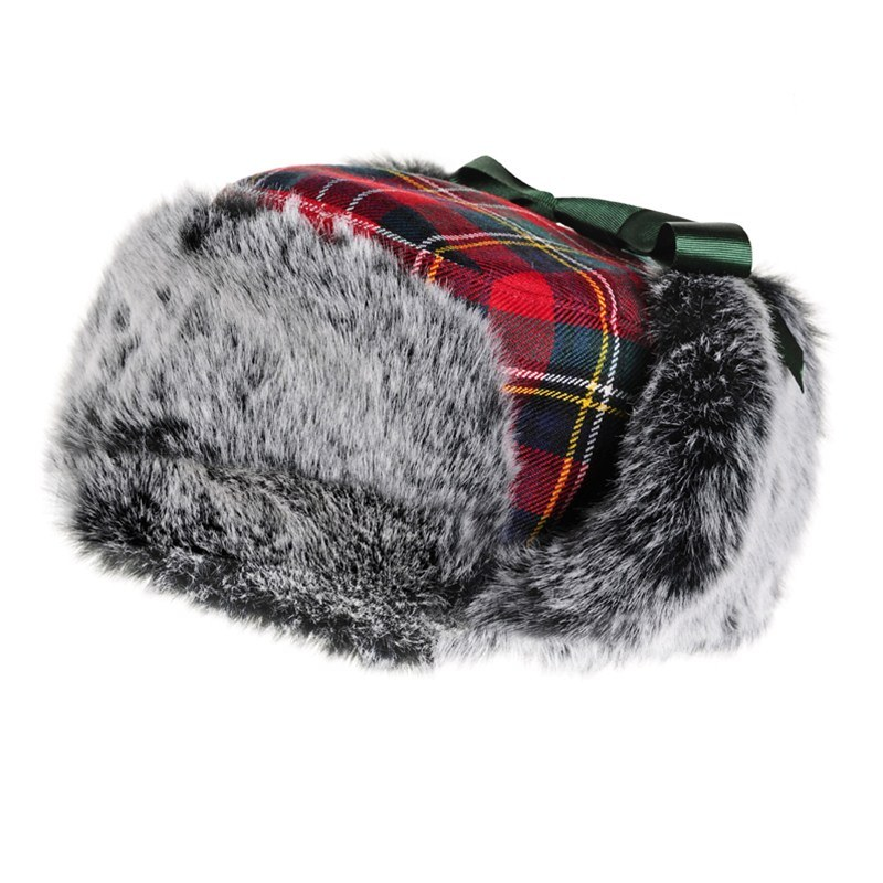 Childrens Tartan Trapper Hat 2