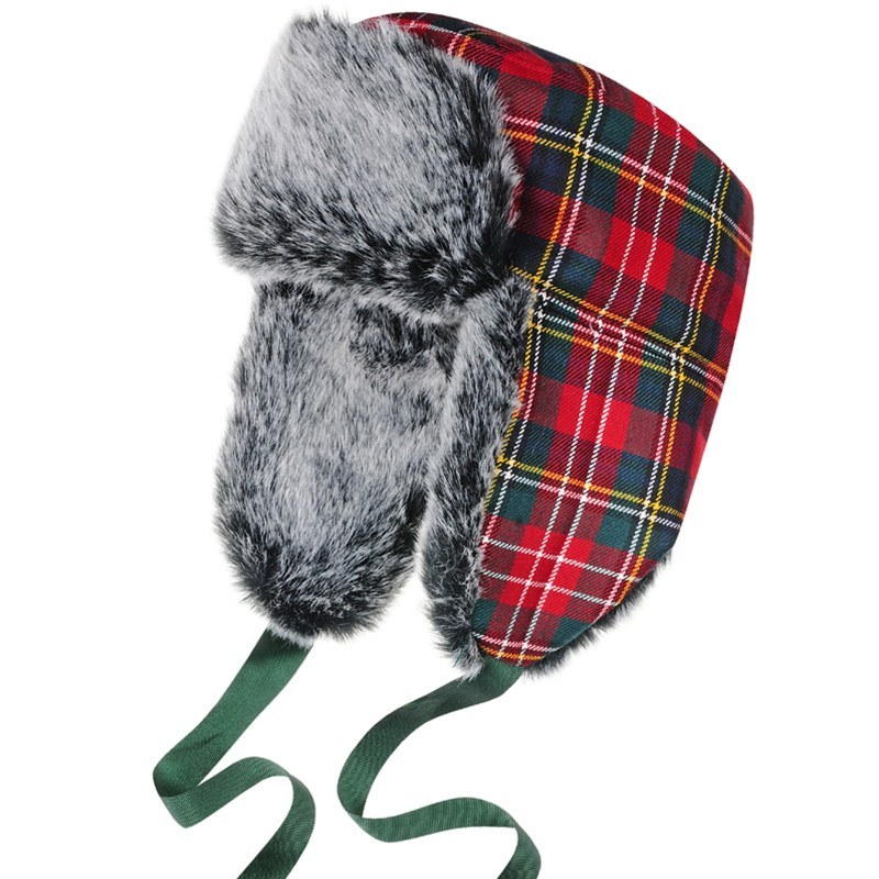 Childrens Tartan Trapper Hat