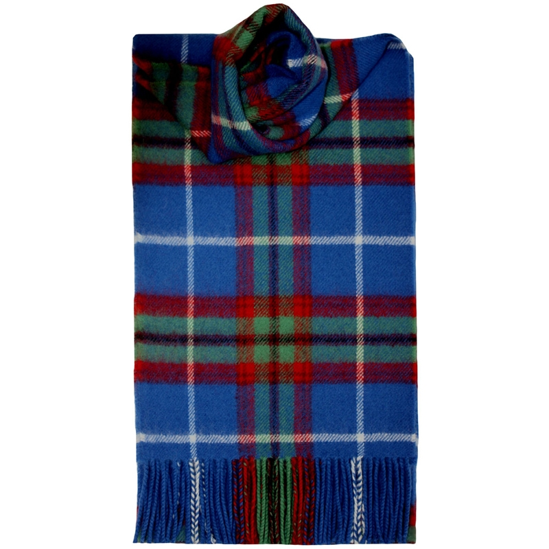 Brushed Wool Tartan Scarf in Edinburgh