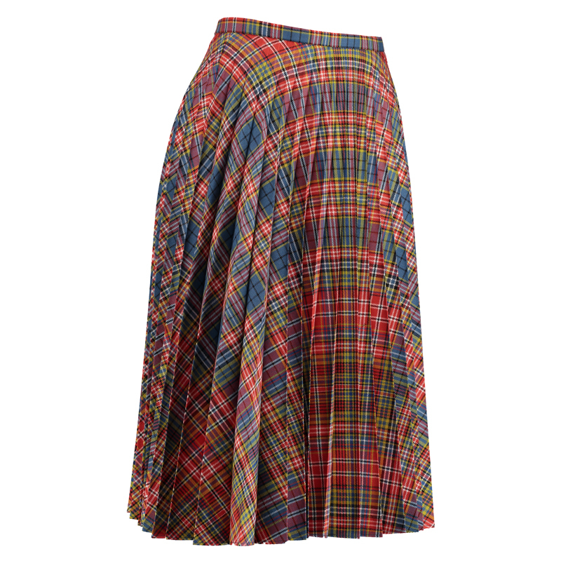 Women's Fine Pleated Skirt in Ogilvie of Airlie Ancient