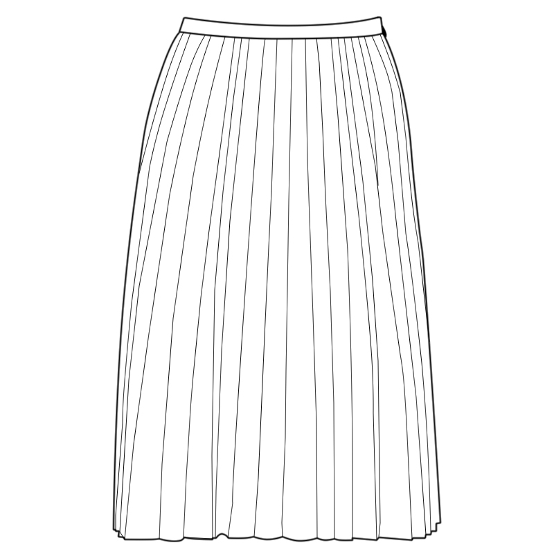 Women's Fine Pleated Skirt Made To Order
