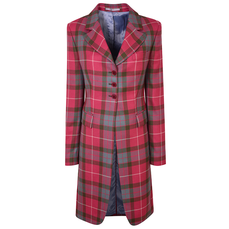 Women's Longline Plaid Jacket in Fraser Red Weathered