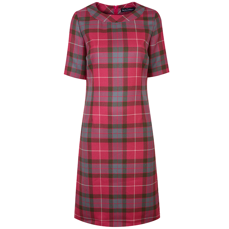Round Neck Tartan Dress