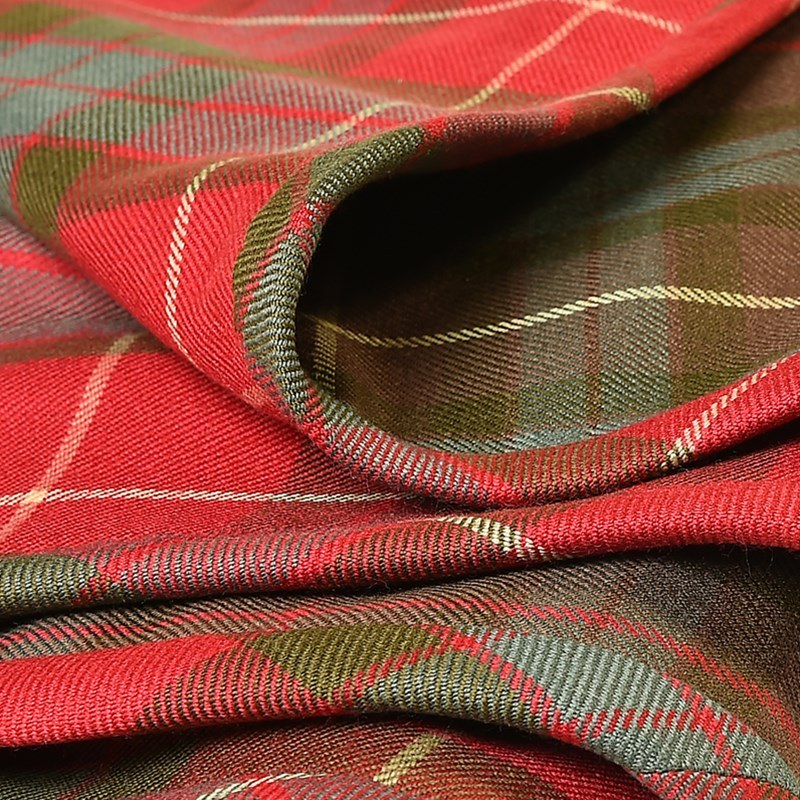 Fraser Weathered Fraser Hunting Weathered Quilted Tartan Throw Reversible On Request 1