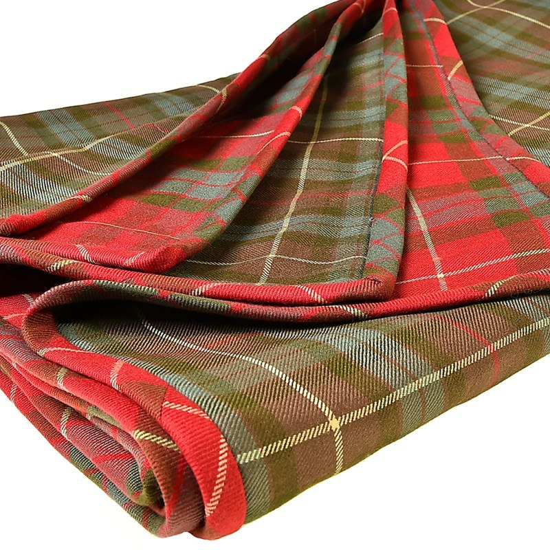 Fraser Weathered Fraser Hunting Weathered Quilted Tartan Throw Reversible On Request