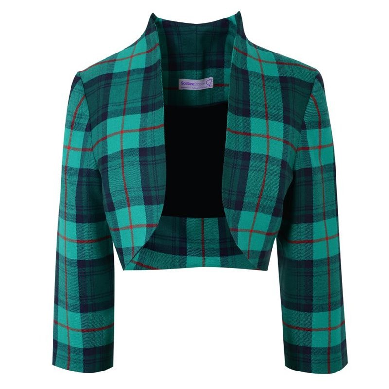 Girls Tartan Bolero Jacket
