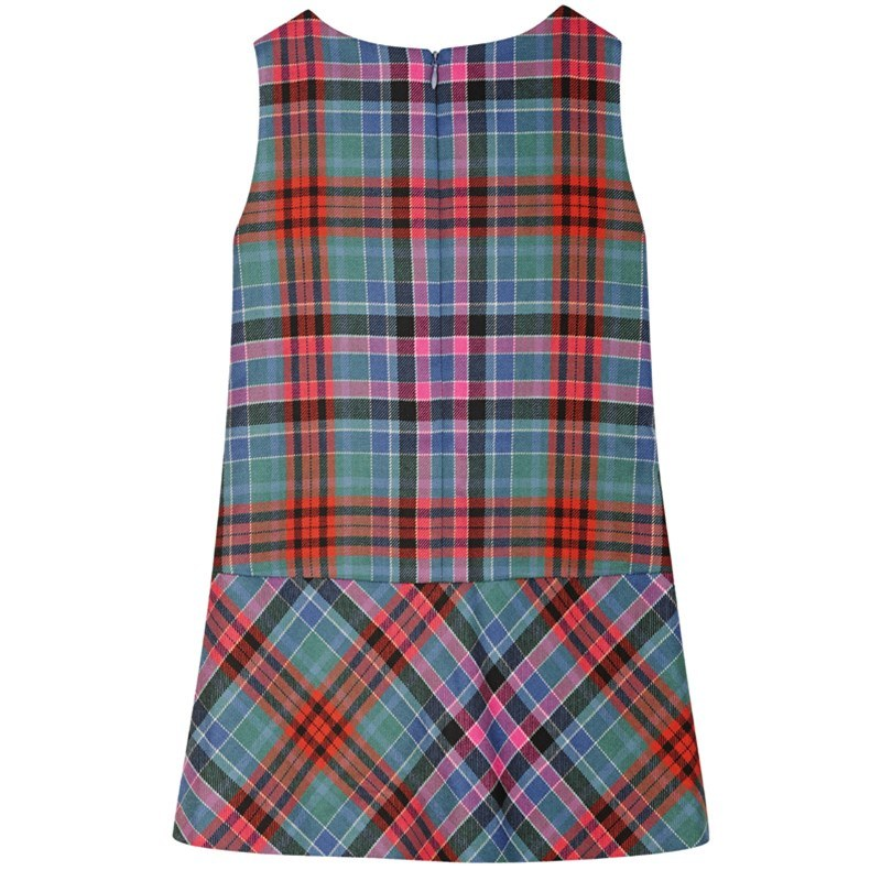 Girls Tartan Pinafore Dress 1