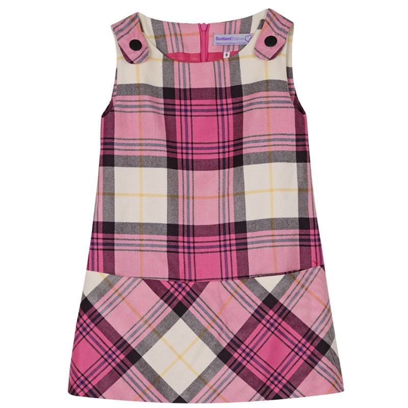 Girls Tartan Pinafore Dress 2