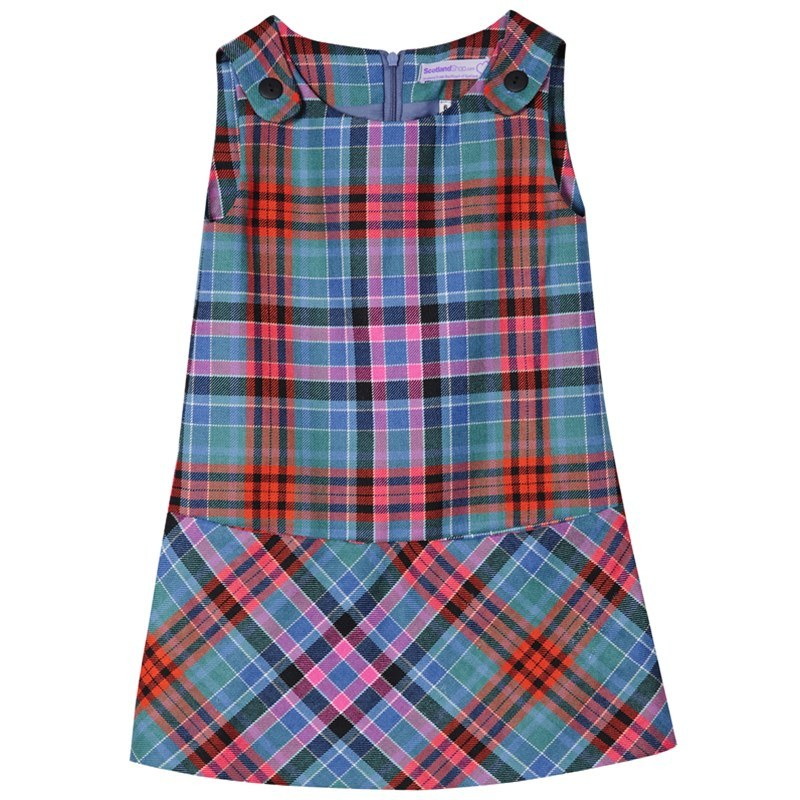 Girls Tartan Pinafore Dress