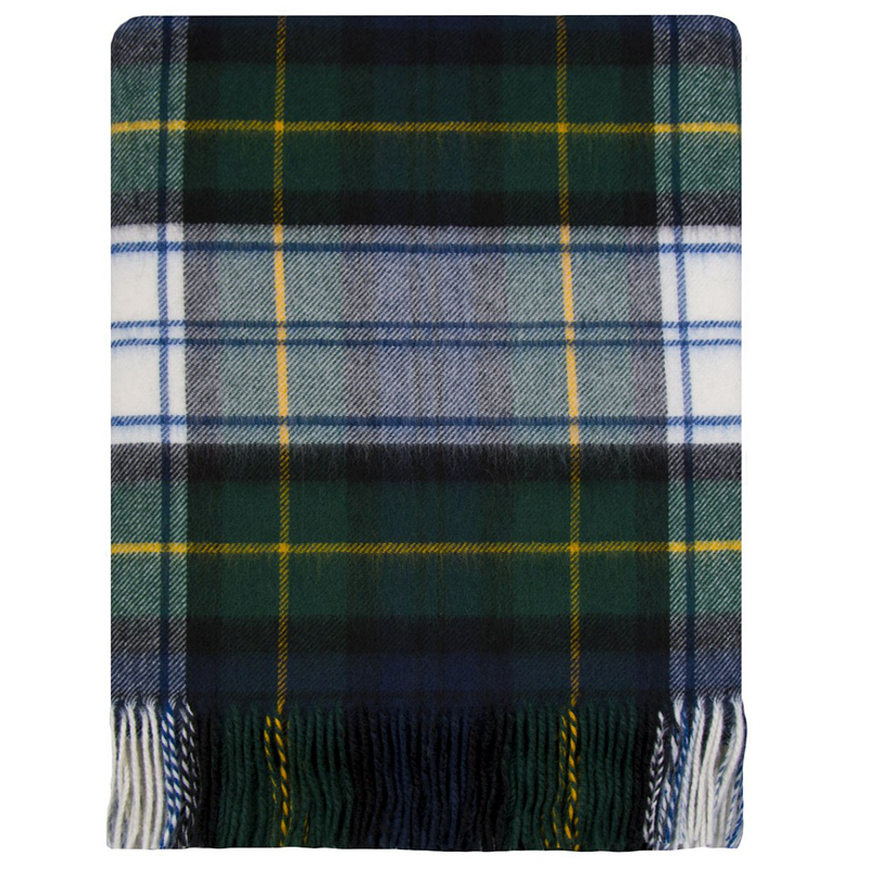 Brushed Wool Plaid Blanket in Gordon Dress Modern