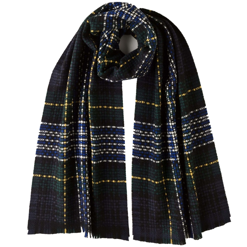 Exploded Tartan Cashmere Scarf in Gordon Dress Modern