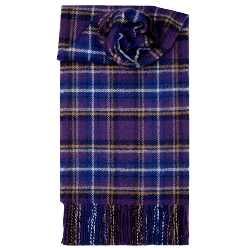 Brushed Wool Tartan Scarf in Holyrood Diamond Jubilee