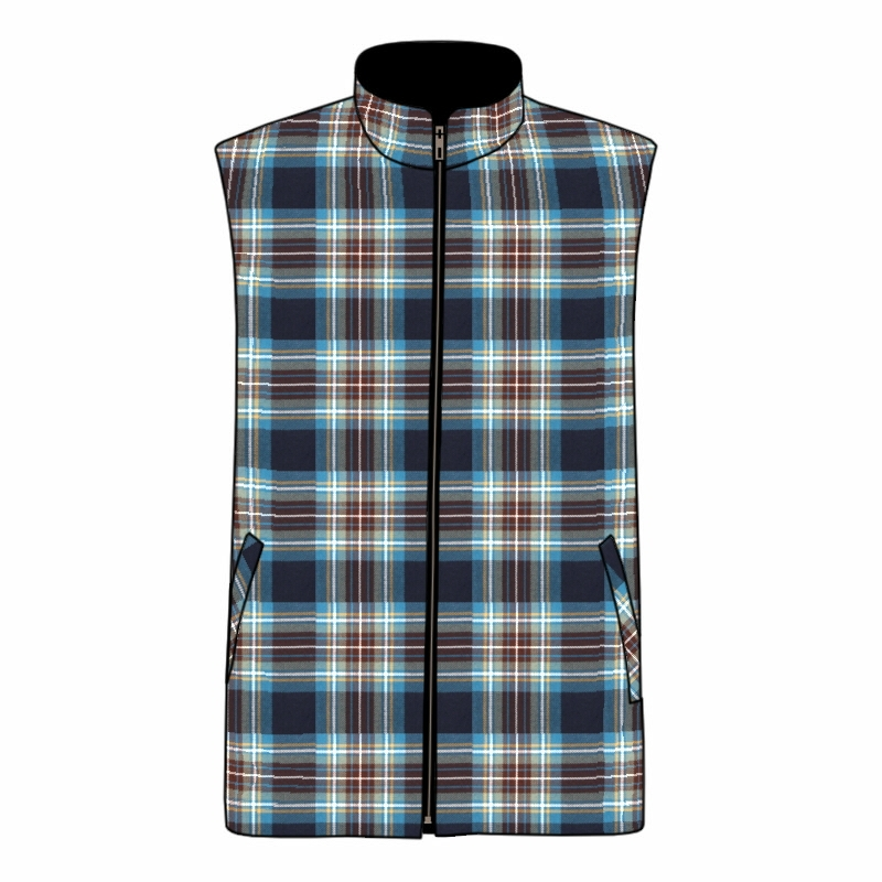 Gilet sans manches en tartan pour homme in Holyrood PolyViscose BA008T