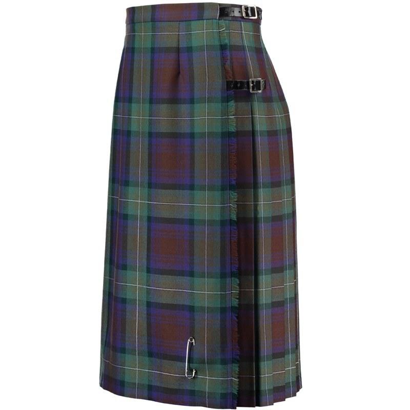 Isle Of Skye Tartan Kilted Skirt 8