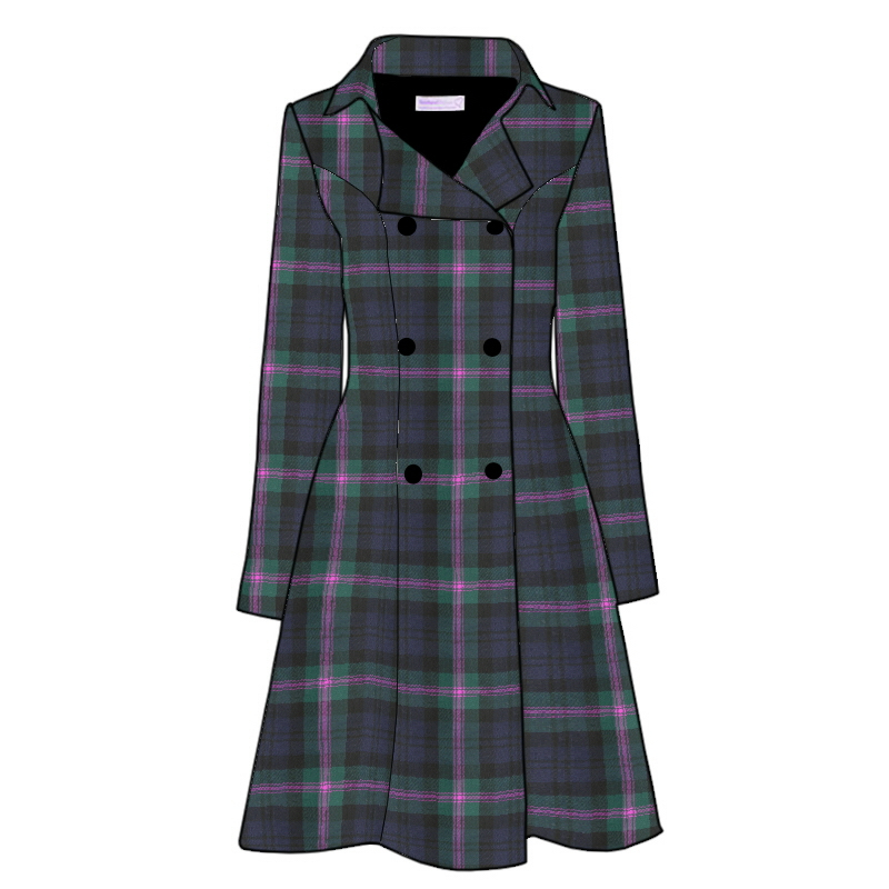 The Kate Coat in Plaid in Baird Modern