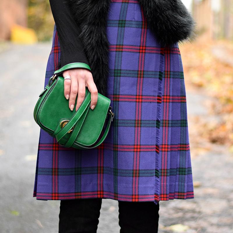 Kilted Tartan Skirt