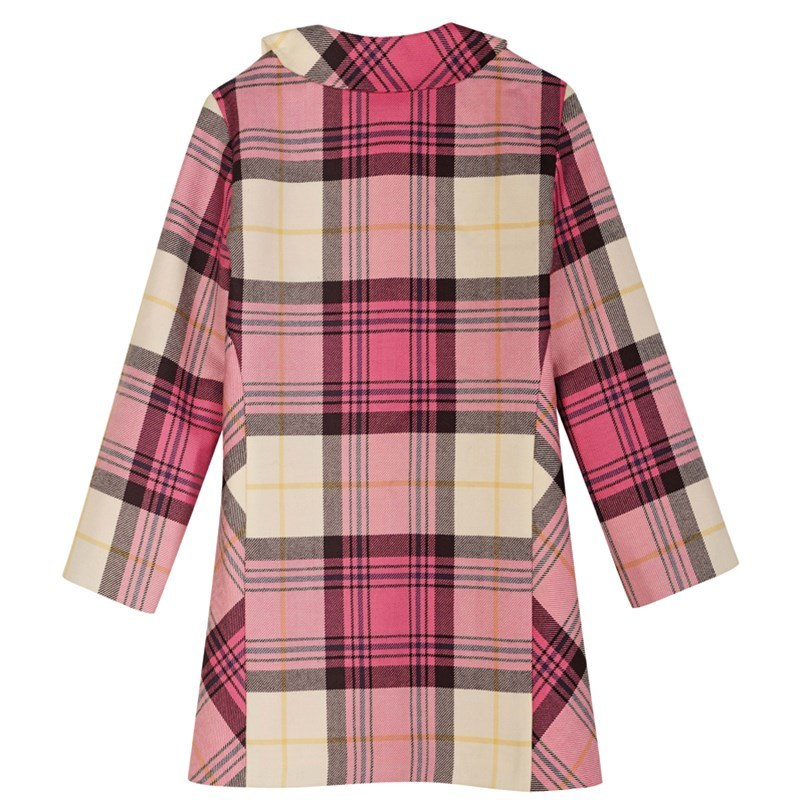 Kyle Pink Girls Tartan Jacket Back