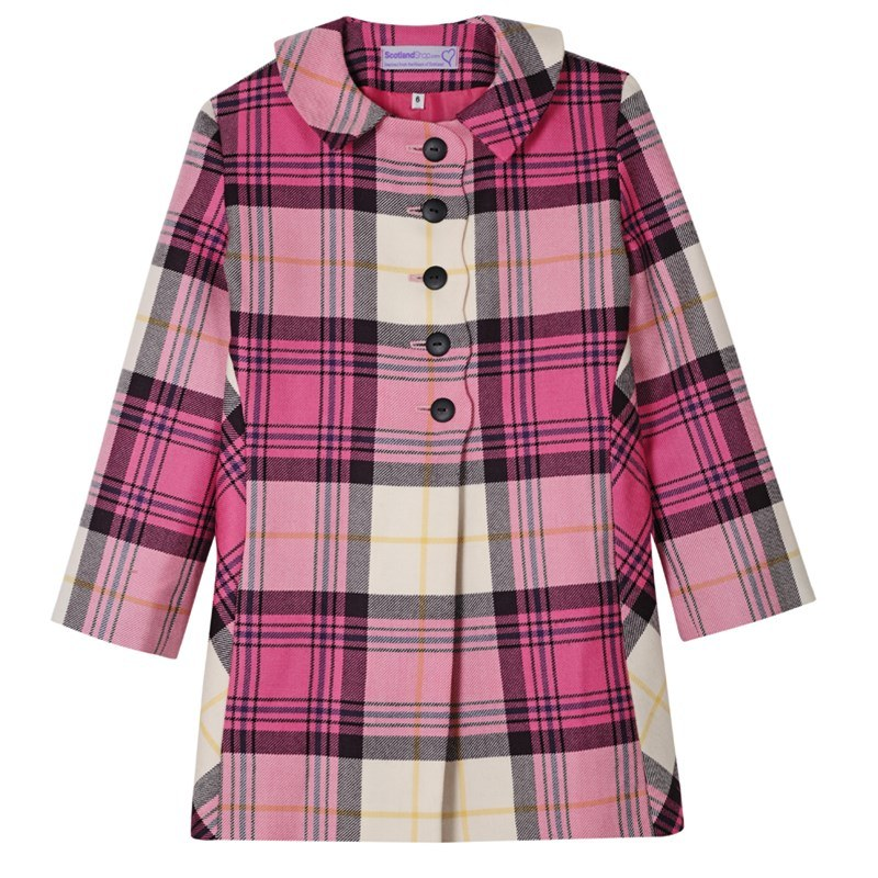 Kyle Pink Girls Tartan Jacket