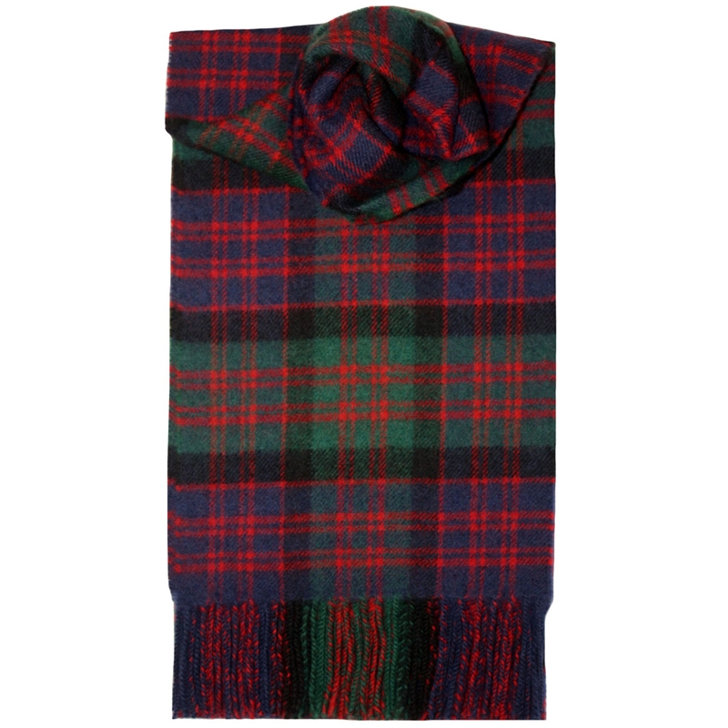 Brushed Wool Tartan Scarf in MacDonald Clan Modern