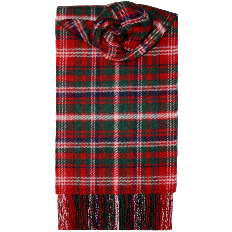 Brushed Wool Tartan Scarf in MacDougall Modern