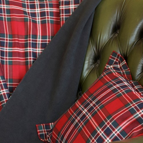 Macfarlane Clan Modern Fleece Backed Tartan Throw 1