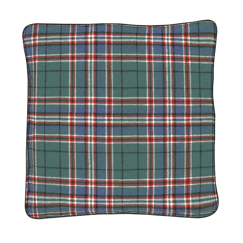 Piped Edge Tartan Cushion Covers