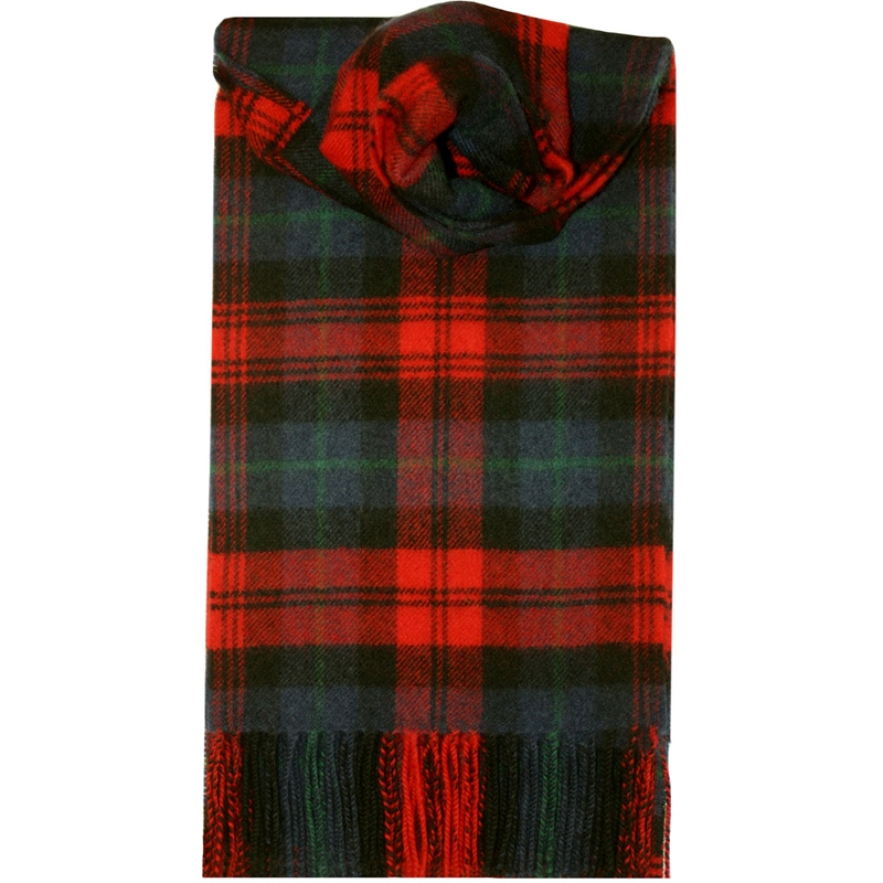 Brushed Wool Tartan Scarf in MacLachlan Modern