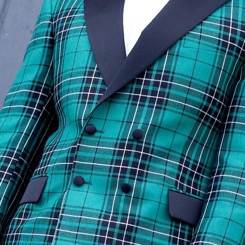 Maclean Hunting Modern Tartan Dinner Jacket Close
