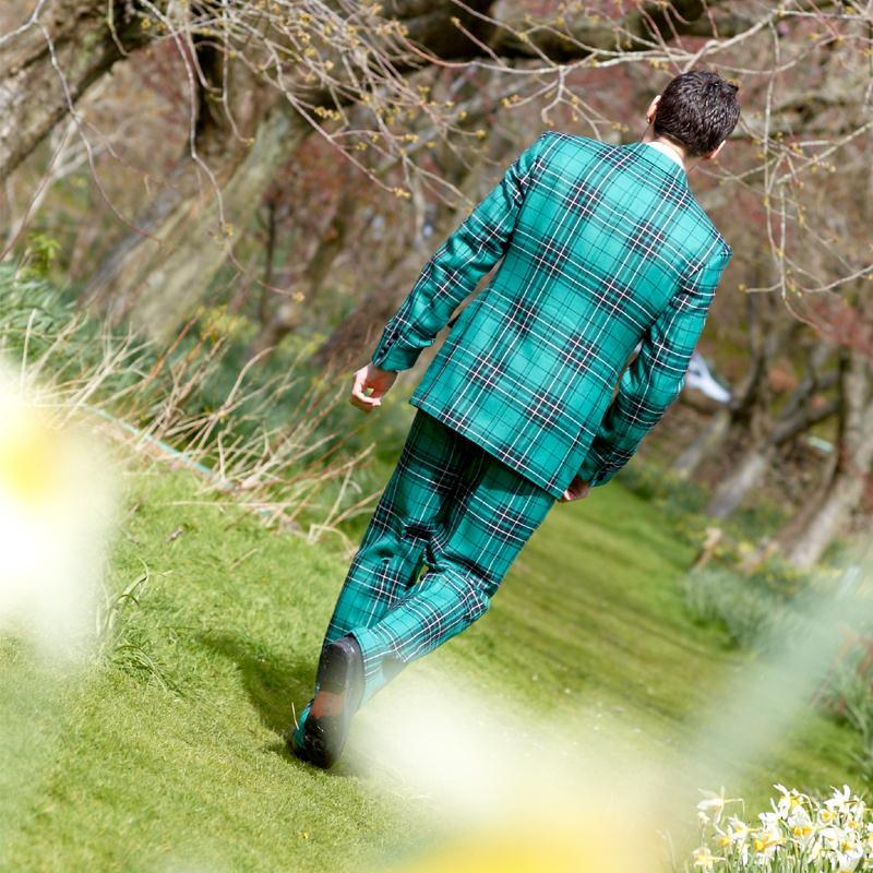 Maclean Hunting Modern Tartan Dinner Suit Back