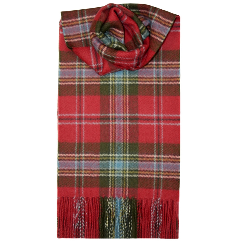 Brushed Wool Tartan Scarf in MacLean of Duart Weathered