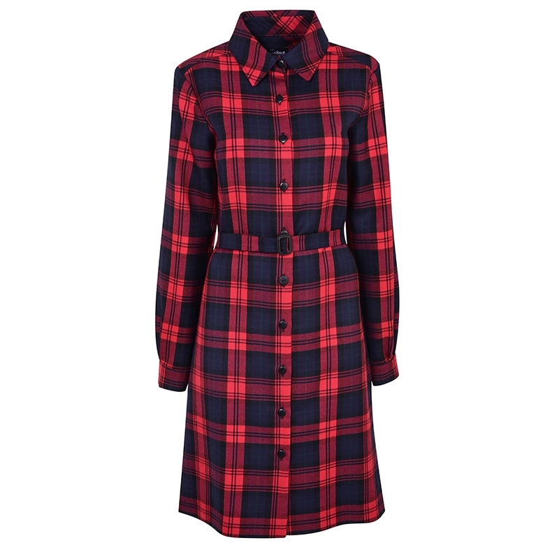 Tartan Shirt Dress in MacLachlan Modern