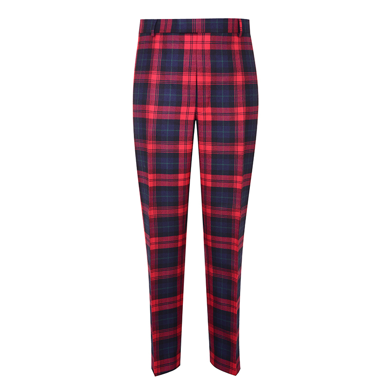 Men's Tartan Trousers - Slim Cut