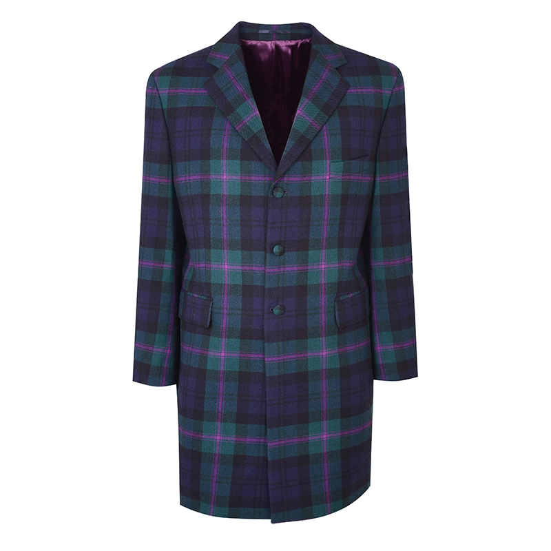 Men's Knee Length Tartan Jacket in Baird Modern