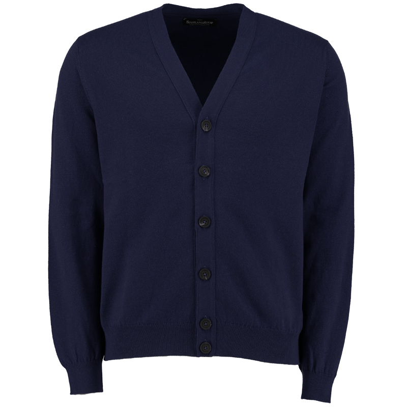 Men's Cashmere Cardigan in Navy