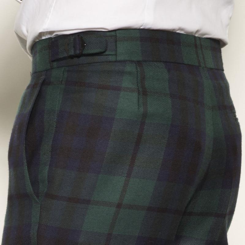 Mens Tartan Trousers Side Adjusters 2
