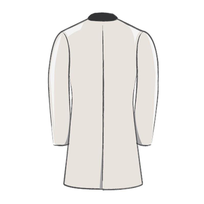 Mid Thigh Tartan Jacket Drape Back