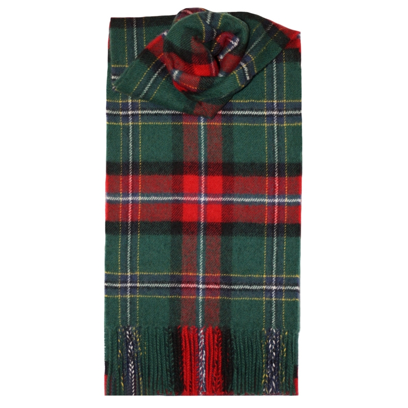 Brushed Wool Tartan Scarf in National Millennium Modern