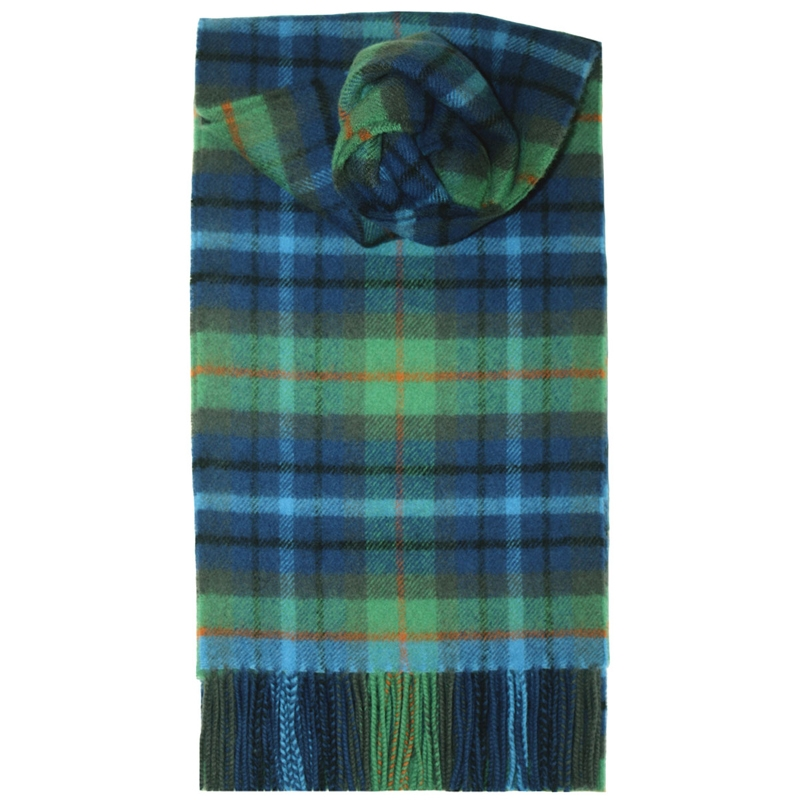 Brushed Wool Tartan Scarf in New York City