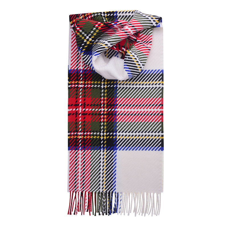 Oversized Check Tartan Scarf in Stewart Dress Modern