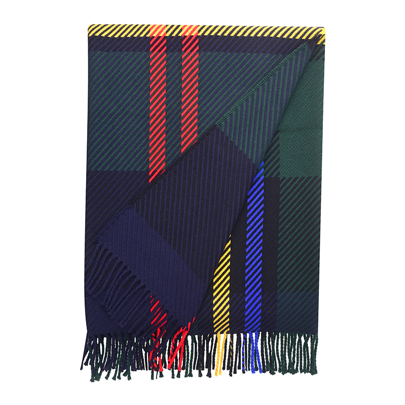 Oversized Check Tartan Throw in Malcolm Modern