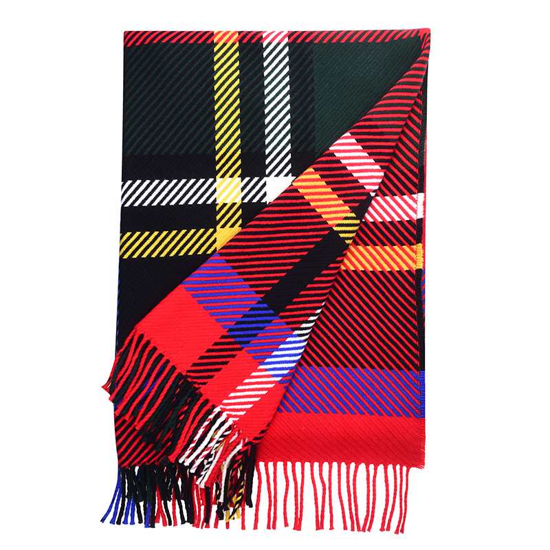 Oversized Check Tartan Throw in Stewart Royal