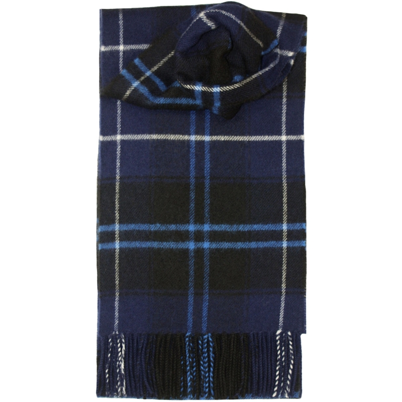 Brushed Wool Tartan Scarf in Patriot Modern