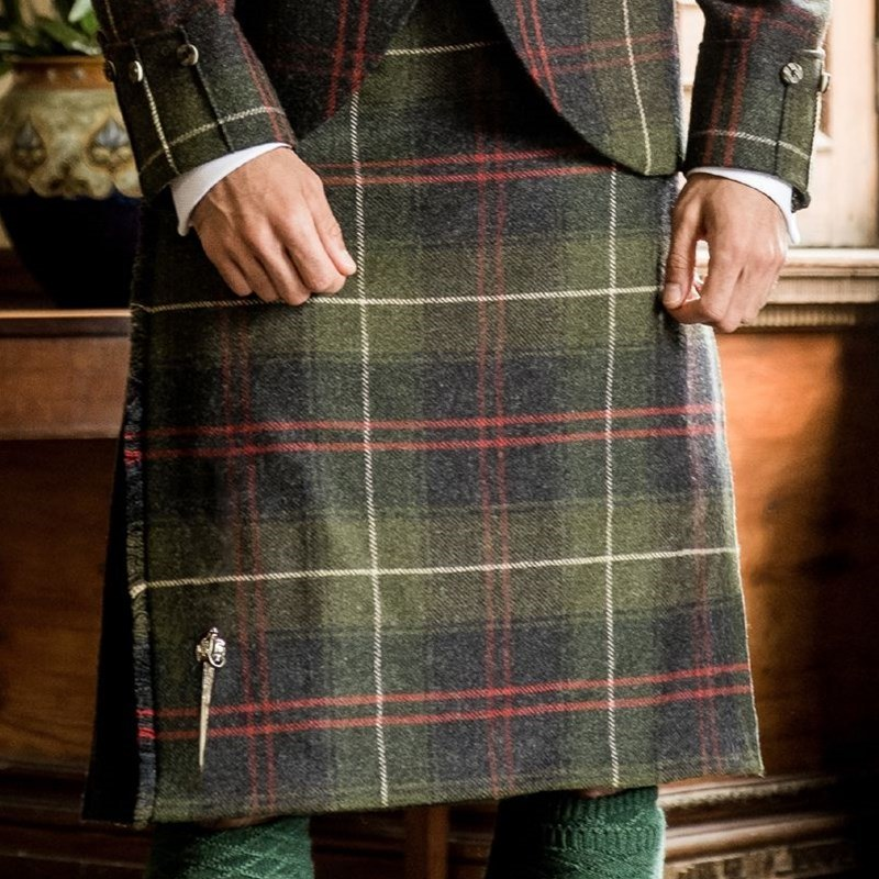 Men's Heavyweight Plaid Alternate Pleat Kilt in Patriot Talla