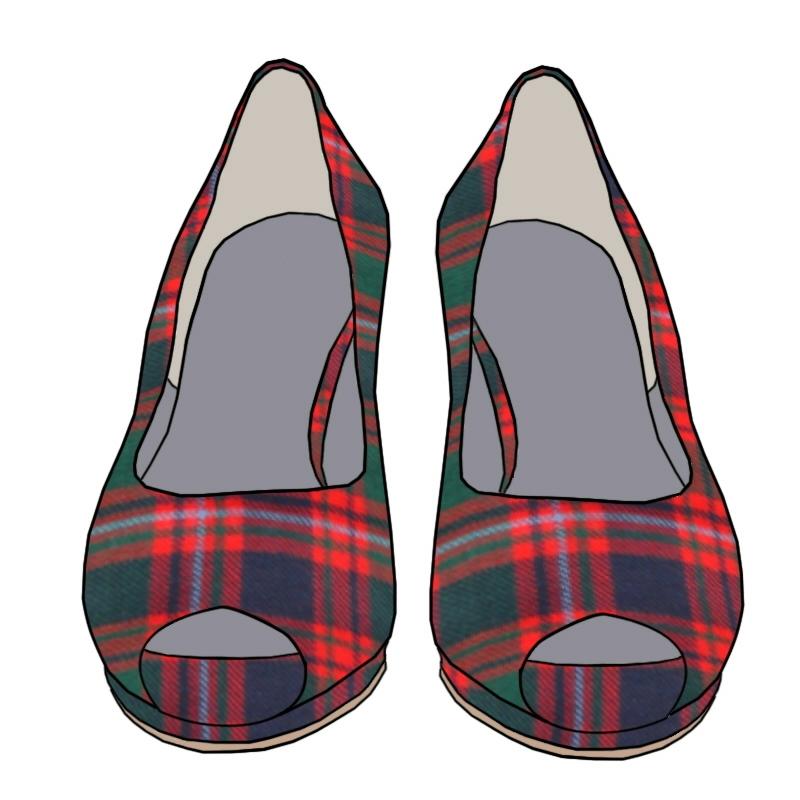Tartan Peep Toe Shoes - Macintyre Modern