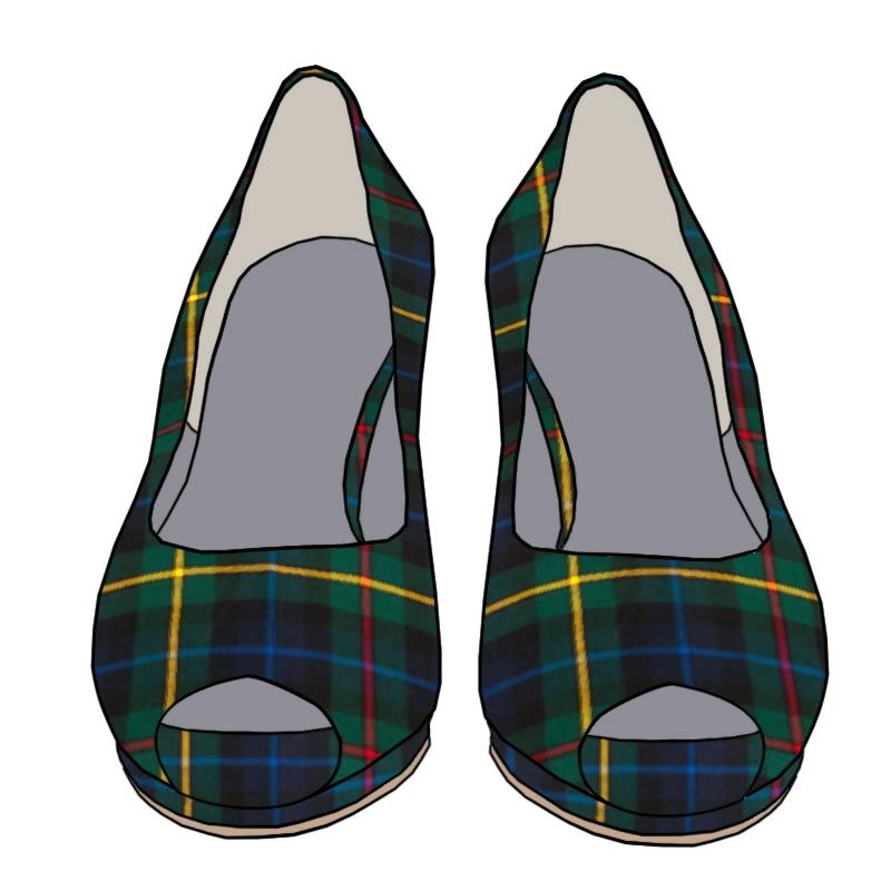 Tartan Peep Toe Shoes - Smith Modern