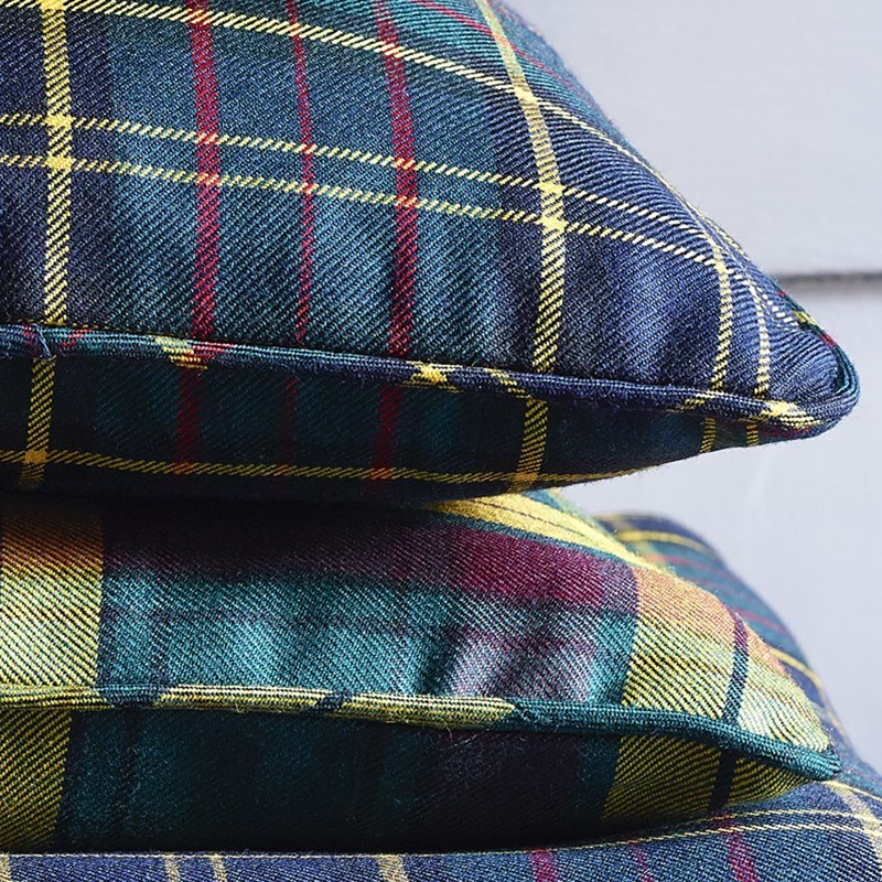 Piped Edge Tartan Cushion Covers 1