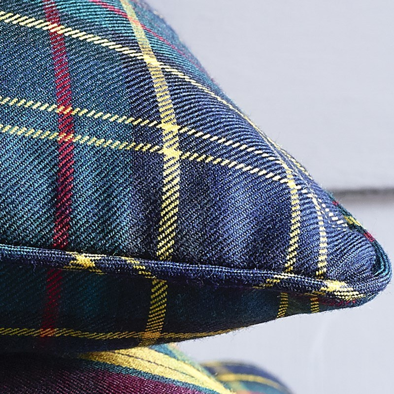 Piped Edge Tartan Cushion Covers 2
