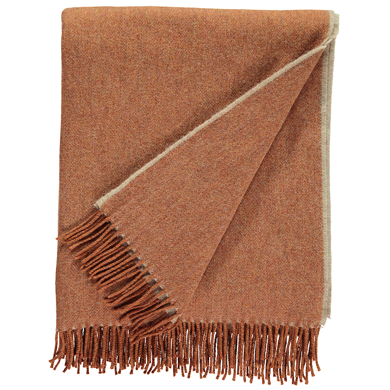 Plain Lambswool Throw Chamois