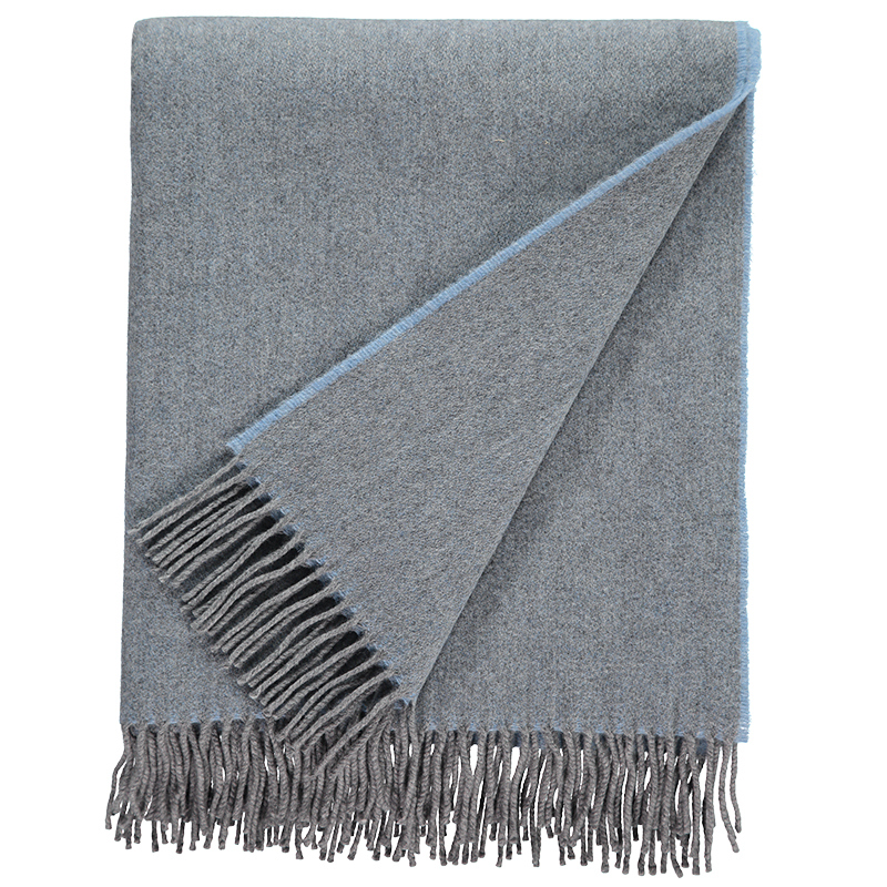 Plain Lambswool Throw Heron